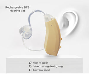 WiderSound® R80 - BTE DIGITAL Rechargeable Hearing Aids