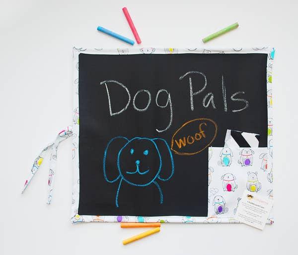 'Dog Pals' Kids Travel Drawing/Chalk Board