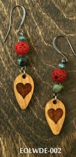 Lava & Wood Diffuser Earrings