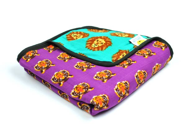 Roar Cuddle Blanket~8 Layers of Cotton Muslin