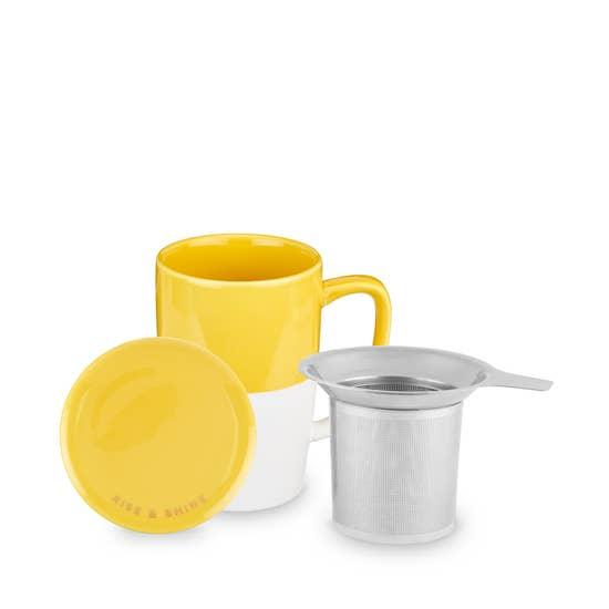 Delia™ Yellow Tea Mug & Infuser