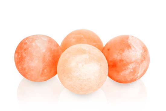 Himalayan Salt Massage Stones ~ Set of 3 w/ Cotton Bag