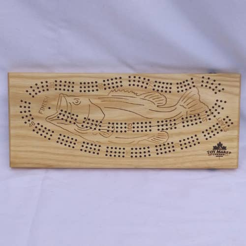Fish Cribbage Board ~Durable & Non-Toxic