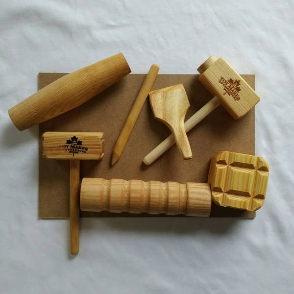 Play Dough Wooden Tool Set ~Durable & Non-Toxic