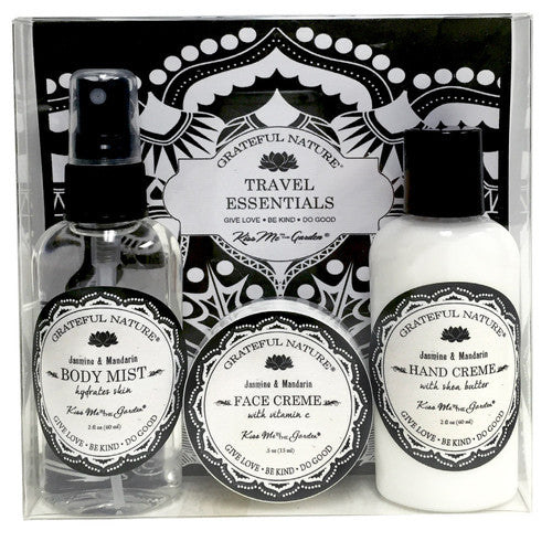 Grateful Nature 3 pc Gift Set - Body Mist, Face Creme, Hand Creme