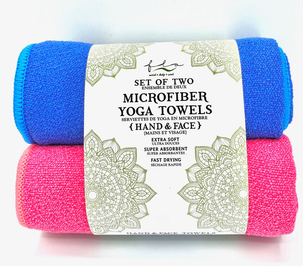 Microfiber Yoga Towels - Hand and Face - Set of Two