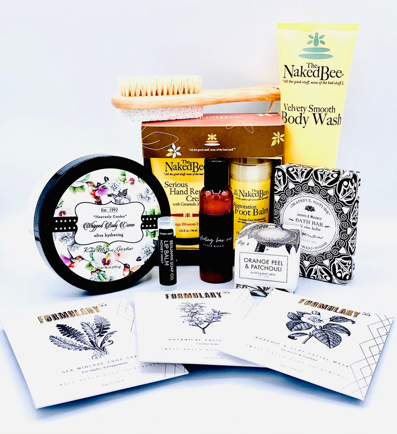 Deluxe Bath & Body Gift Set - Pampering From Head to Toes!