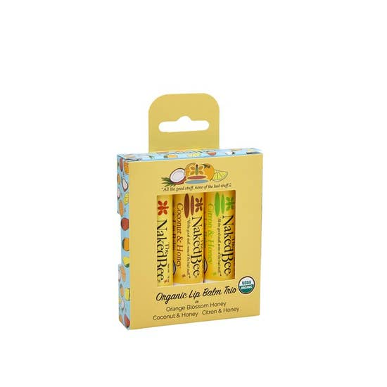 3 Pack Organic Lip Balm Set