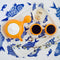 BULB 2.0 Tea Set - Orange/White~ Tea pot and 2 tea cups