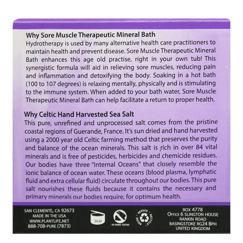 Sore Muscle Bath Salt 3 oz