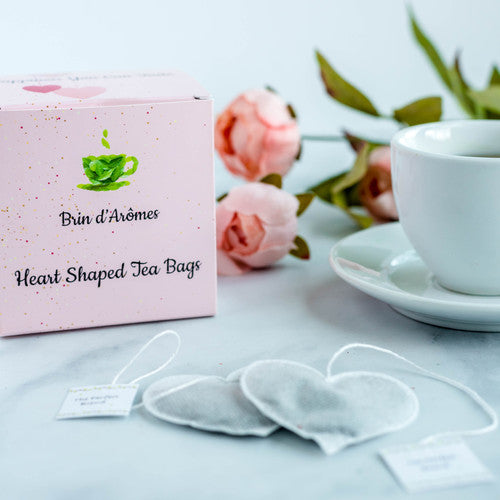 Heart Shaped Tea Bags Box - 15 Handcrafted Tea Bags