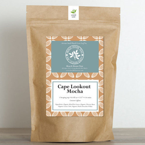 'Cape Lookout Mocha' Loose Leaf Tea ~ Handcrafted and Organic Tea