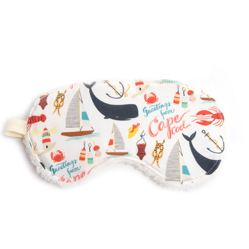 Sleep Mask/Organic Cotton ~ Cape Cod Print