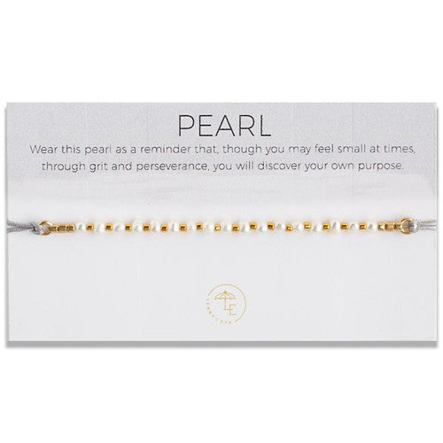 Discover Your Own Purpose/Lily Cord Bracelet/Pearl