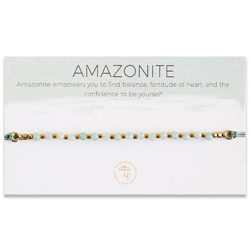 Find.. Inner Strength/Lily Cord Bracelet/Amazonite