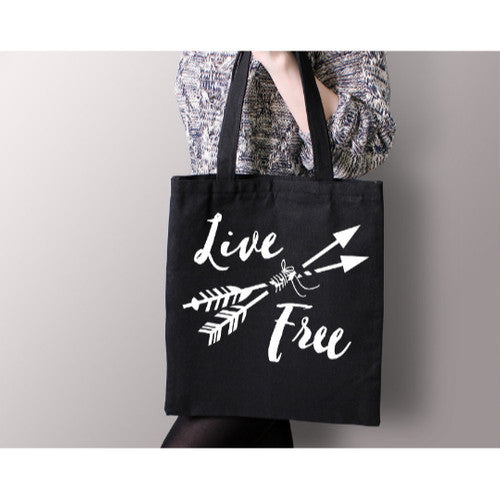 Live Free Canvas Tote