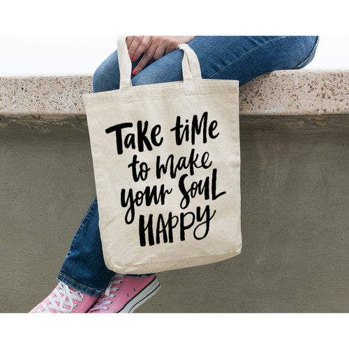 Take Time Canvas Tote