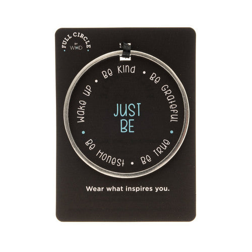 'Just Be'~ Handcrafted Inspirational Full Circle Bangle