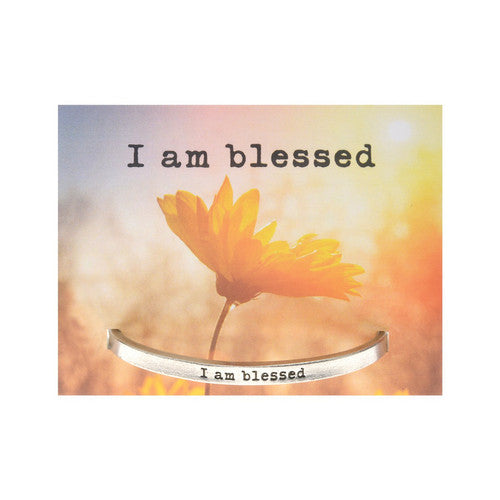 'I Am Blessed' Inspirational Quotable Cuff
