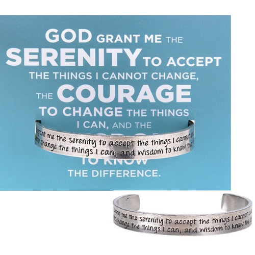 'Serenity Prayer'  ~ Handcrafted Quotable Cuff Bracelet