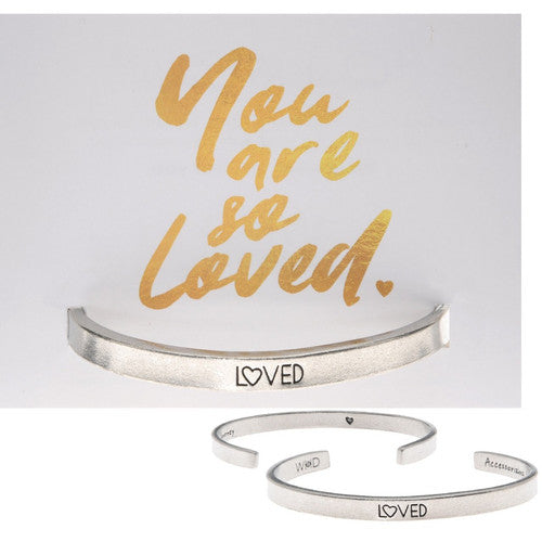Loved Quotable Cuff - Handcrafted Jewelry
