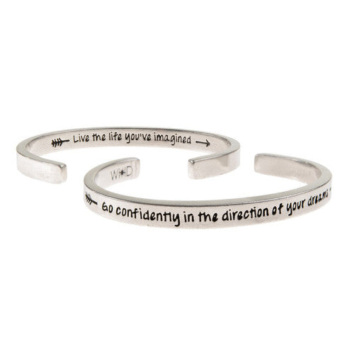 'Go Confidently In The Direction Of Your Dream' ~ Handcrafted Inspirational Cuff