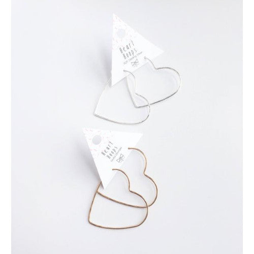 Sterling Silver Heart Hoops ~ Hand Forged