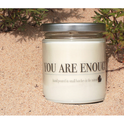 You Are Enough Natural Soy and Beeswax Candle