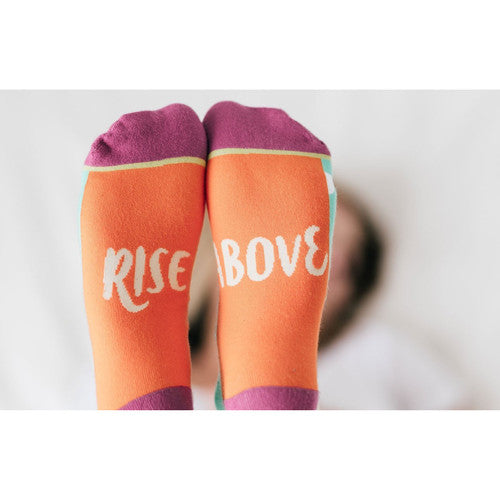 'Rise Above' ~ Motivational Socks Crew Length Sock