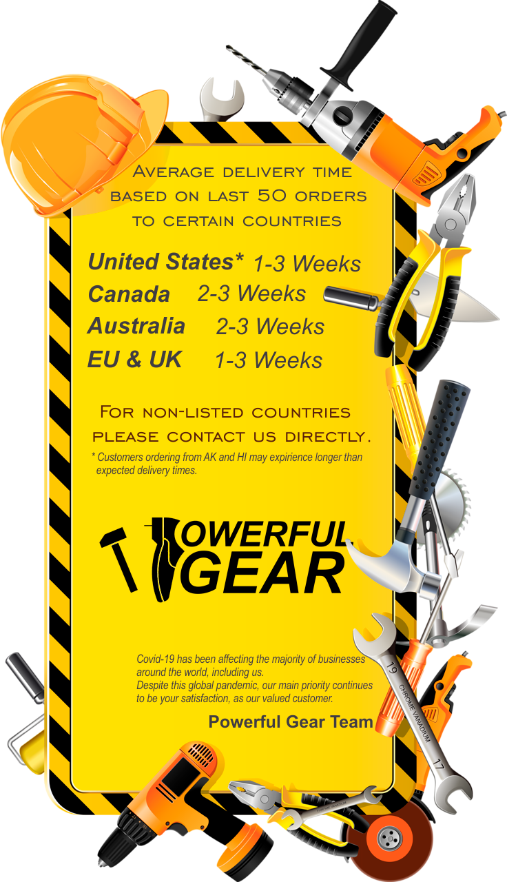 Delivery Time of Powerful Gear Shoes