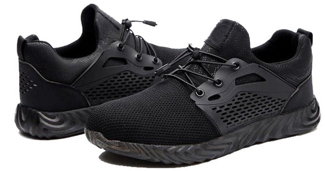Black super Light steel toe shoes