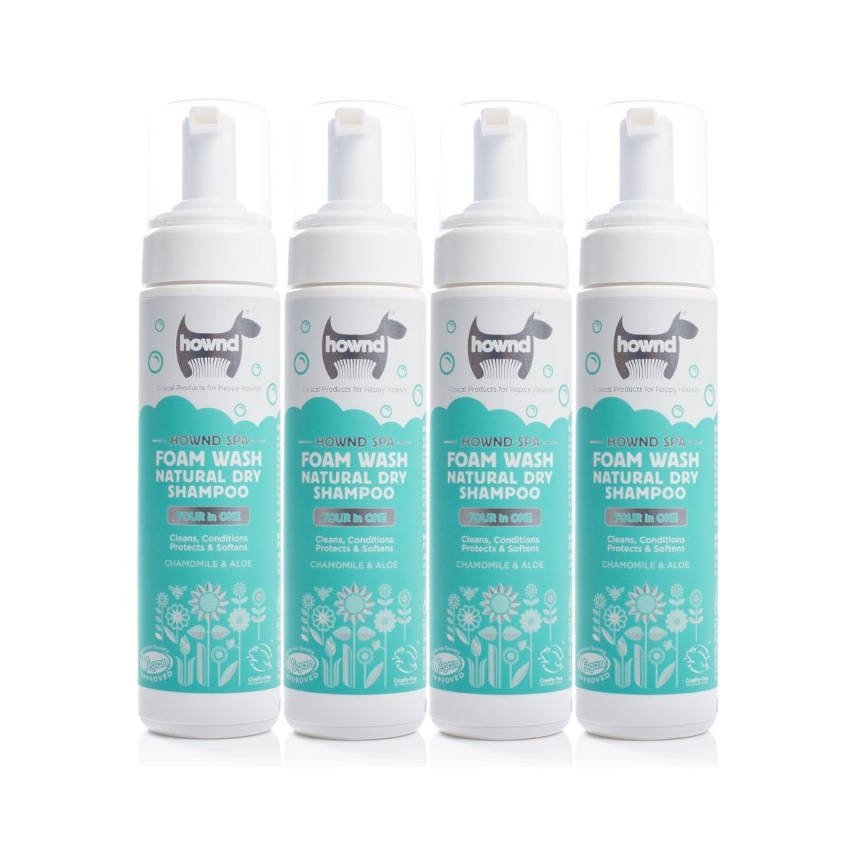 Foam Wash Natural Dry Shampoo (200ml) x 4 - Hownd