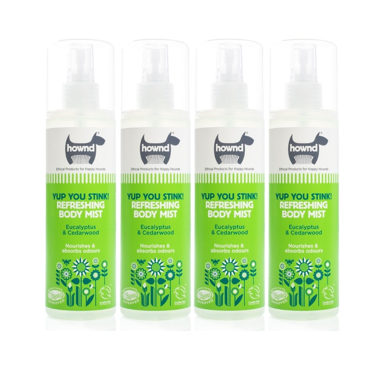 Yup You Stink! Refreshing Body Mist (250ml) x 4 - Hownd