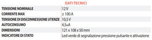Battery Saver BS 12-100 Stacca Batteria Automatico - Camper