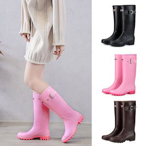Women Winter High Warm Lined Rain Boots - overstocktarget