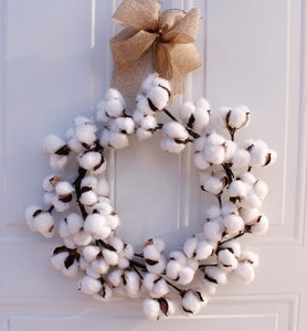 Real Cotton Decoration Wreaths - overstocktarget