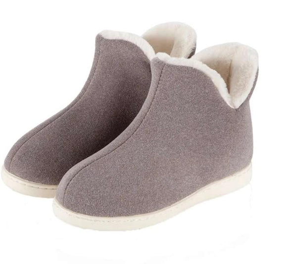 Women Plush Indoor High Top Slippers - overstocktarget