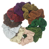 10pc set of  Women's Velvet Patterned Scrunchies - overstocktarget