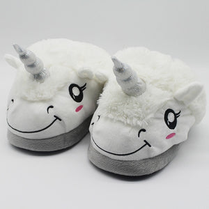 Women Winter Indoor Unicorn Slippers - overstocktarget
