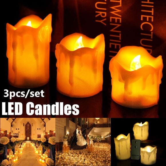 Remote Control Battery Operated LED Wax Candle Lights - overstocktarget