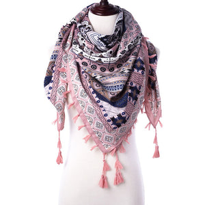 Women Triangle Shawls Floral Scarf Foulard - overstocktarget