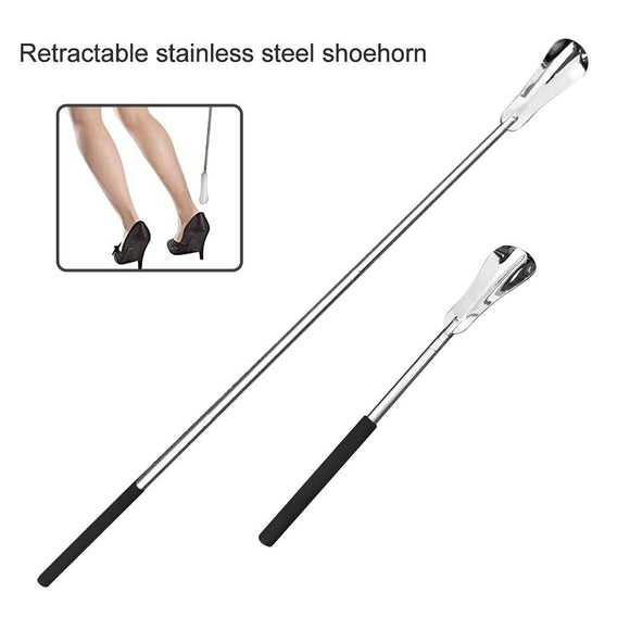 Long Handle Steel Shoehorn - overstocktarget