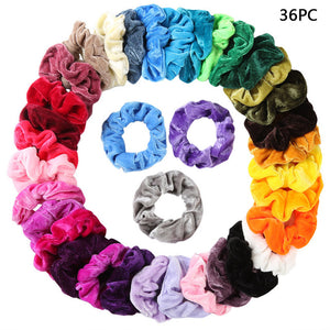 12/36/40/50 Piece Scrunchie Set - overstocktarget