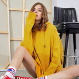 Autumn 9 Colors Sweatshirt Oversized Hoodies Women Harajuku Clothes Stranger Things Adventure Time Streetwear Pink Basic Coat - overstocktarget