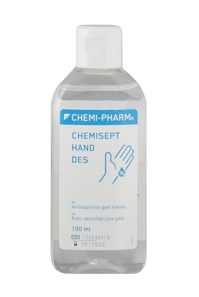 ANTISEPTIC HAND GEL 100ml bottle with flip-off cap