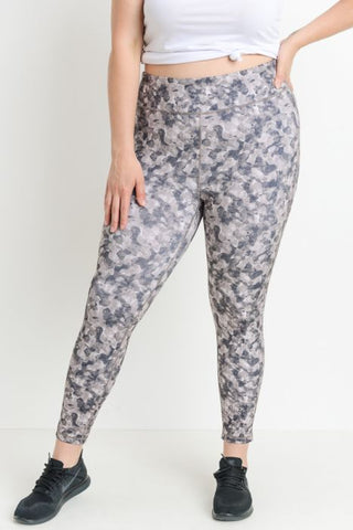 Criss-Cross Leggings - Lite Monochrome Camo