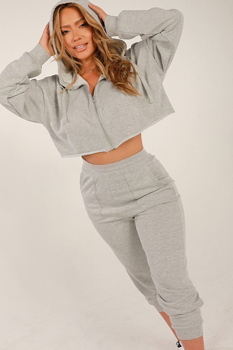 Two- Piece Jogger Set- Grey