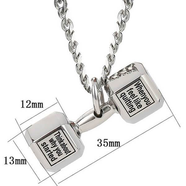 【🎁New Year Promotion 50% OFF ONLY TODAY】Stainless Steel Dumbbell Necklace