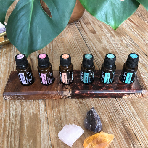 Resin & Timber Essential Oil Stand - Rust