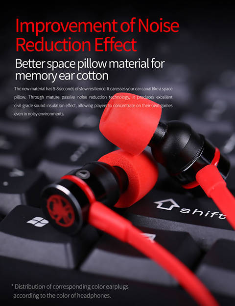 Plextone G20 Gaming Earphone 3.5mm jack With Noise Cancellation